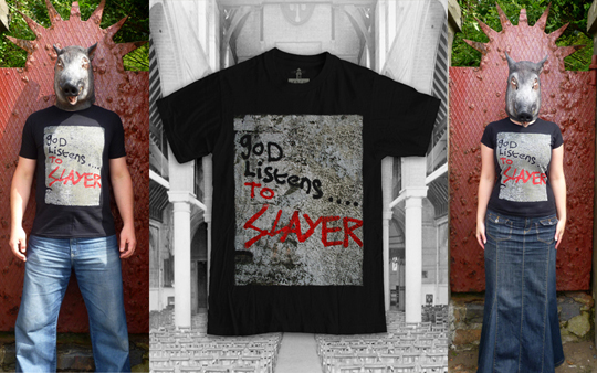 Listen God Listens to Slayer Shirt