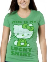 Hello_Kitty_This_Is_My_Lucky_Shirt-T