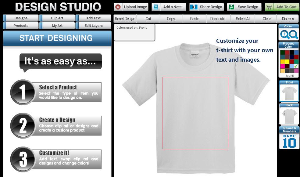 online custom t-shirt designer
