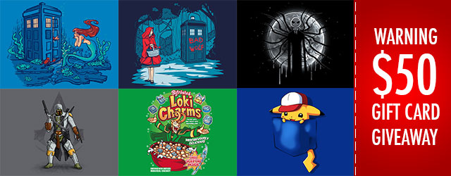Giveaway nr. 5 – Win $50 worth of T-shirts!