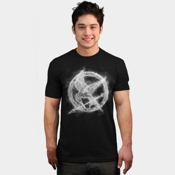 Hunger Games t-shirts mockingjay smoke2