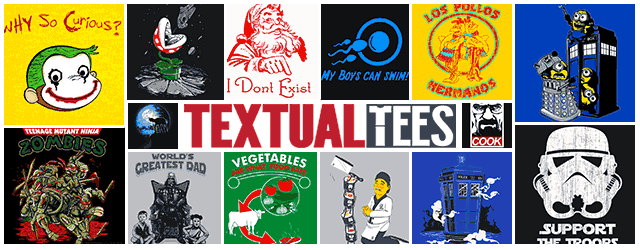 Giveaway: 5 FREE T-Shirts from Textualtees