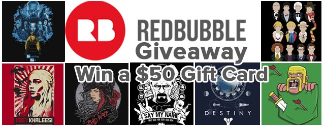 Giveaway: Win a $50 Gift Card from Redbubble