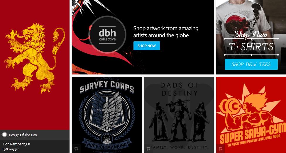dbh indie brand t-shirts