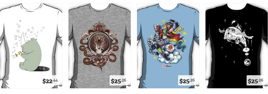 redbubble indie brand t-shirts