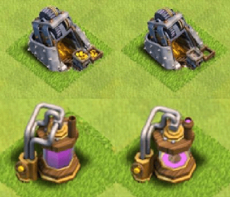 clash of clans barching mines