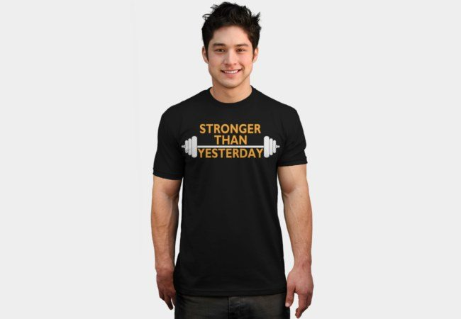 Motivational Bodybuilding T-shirts stronger