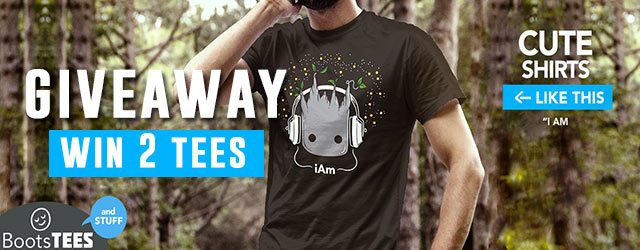 Giveaway: Win 2 FREE T-shirts from BootsTees