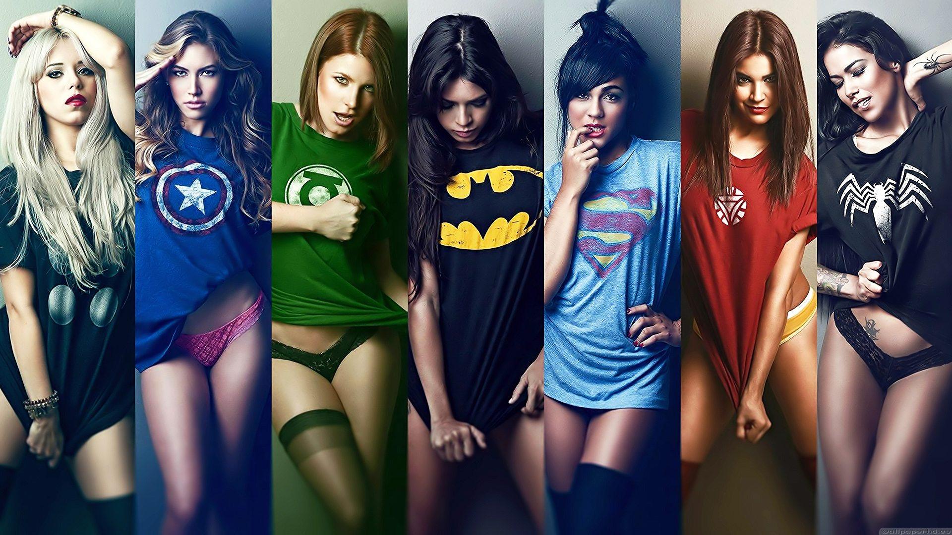 superhero t-shirts babes