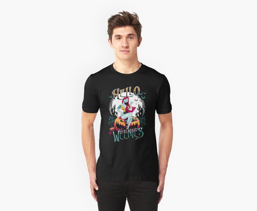 Nightmare before Christmas t-shirts hello weenies