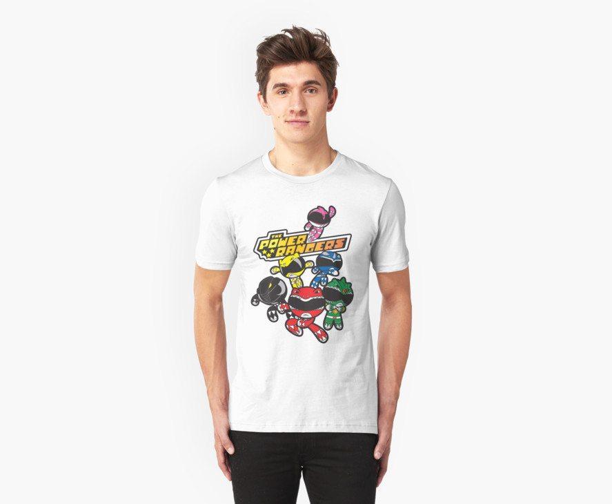 Power Rangers t-shirts powerpuff rangers