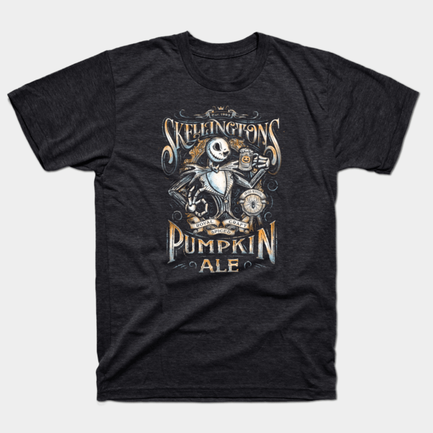 Nightmare before Christmas t-shirts skellingtons pumpkin ale2