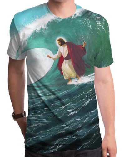 Surfing Jesus Men's T-Shirt