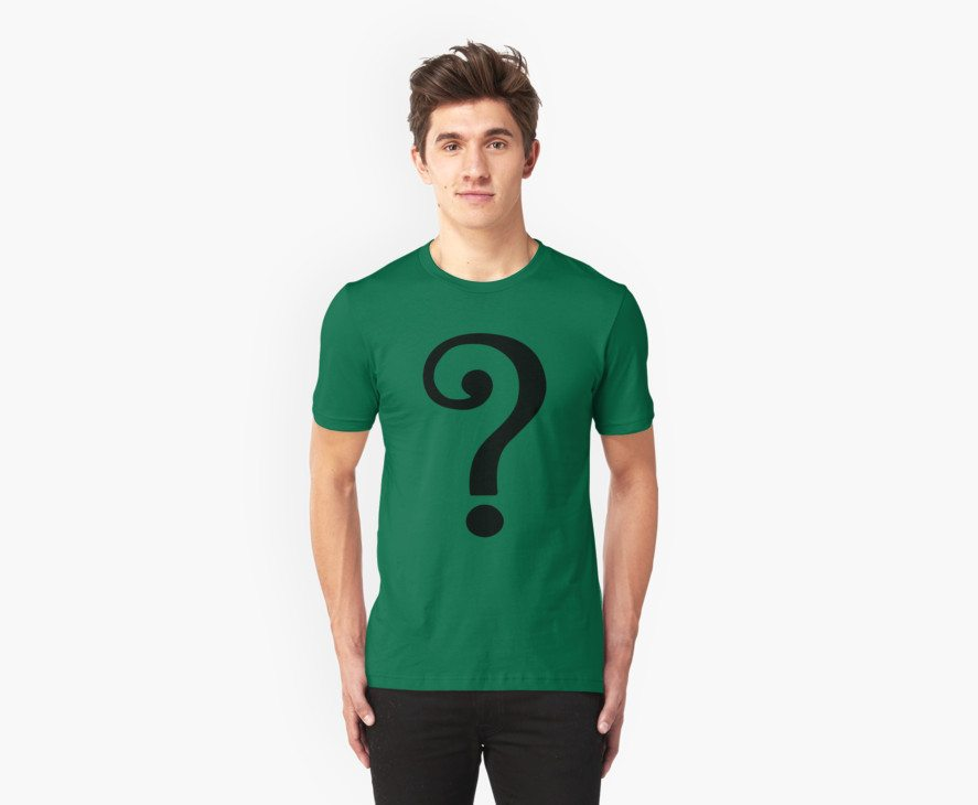 The riddler batman 66 joker dc comics t shirt for Riddler t shirt with bats