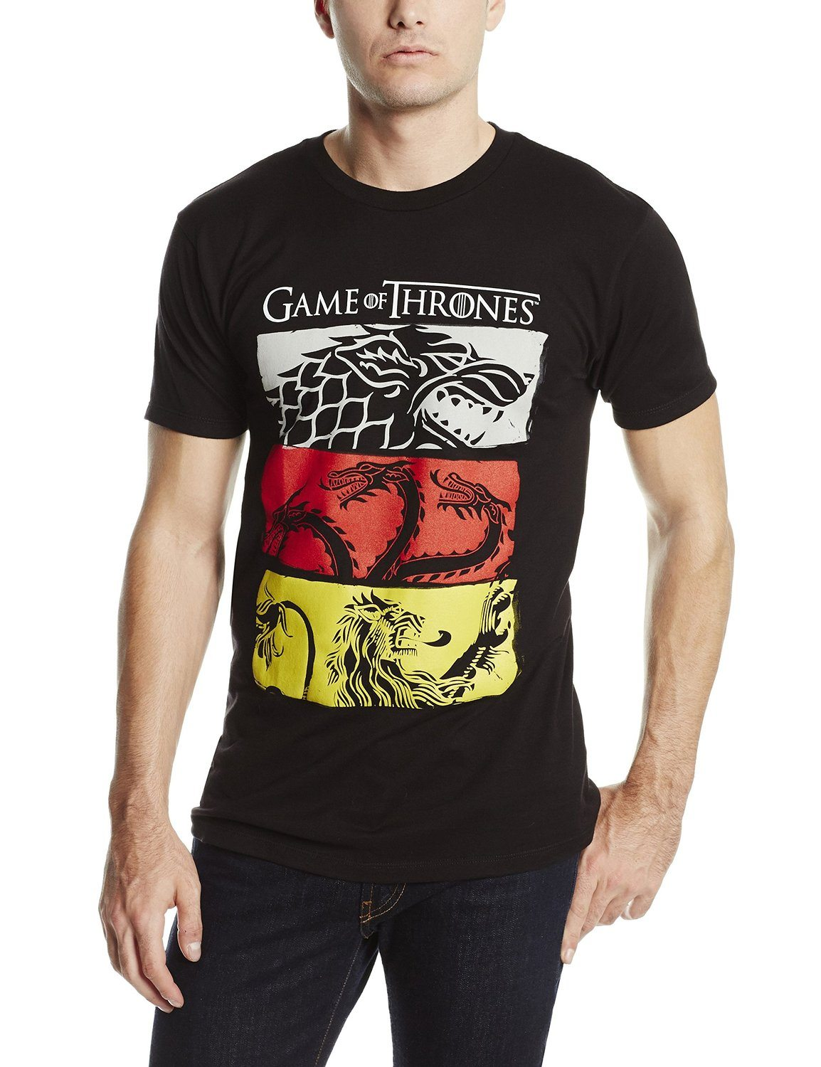 HBO'S Game of Thrones Men's 3 House Symbols T-Shirt