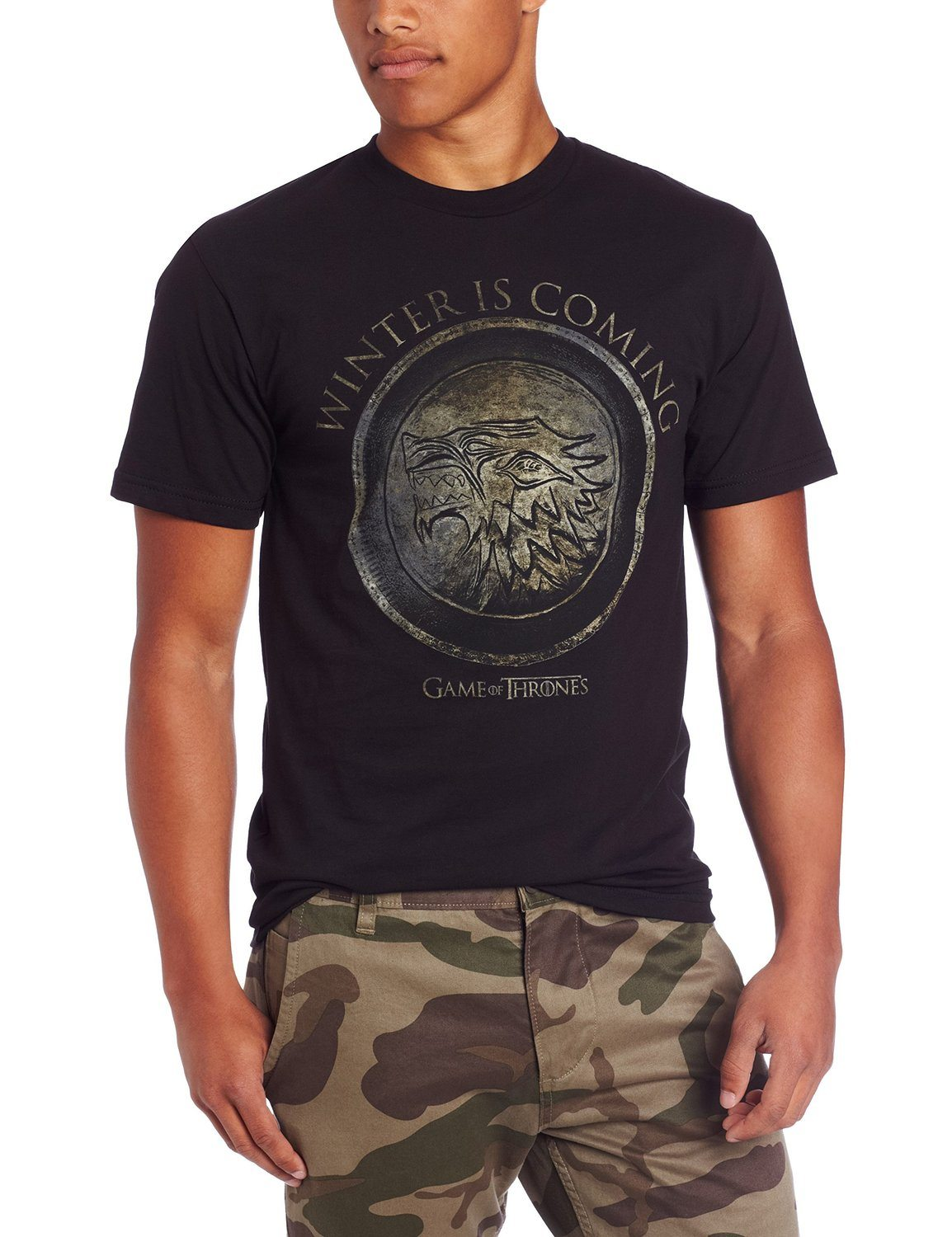 HBO'S Game of Thrones Men's Winter Is Coming Circle T-Shirt