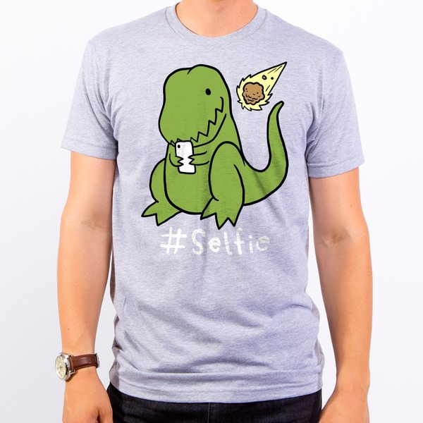 Selfie Dinosaur Men's T-Shirt