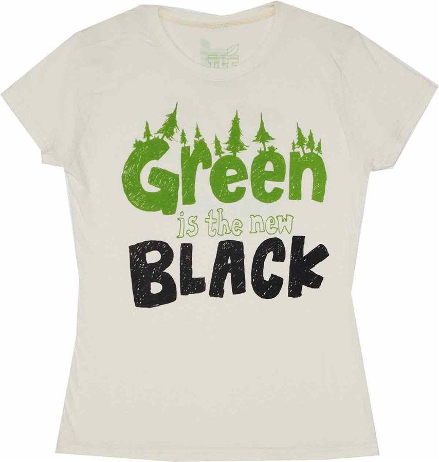 Green is the New Black Tee Hugger Juniors T-Shirt