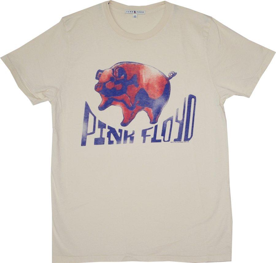 Pink Floyd Ballon Pig T-shirt by Junk Food