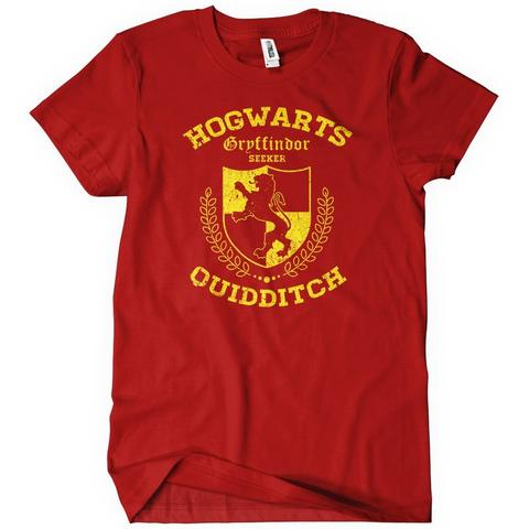 Gryffindor Quidditch T-Shirt Cheap Funny   Textual Tees