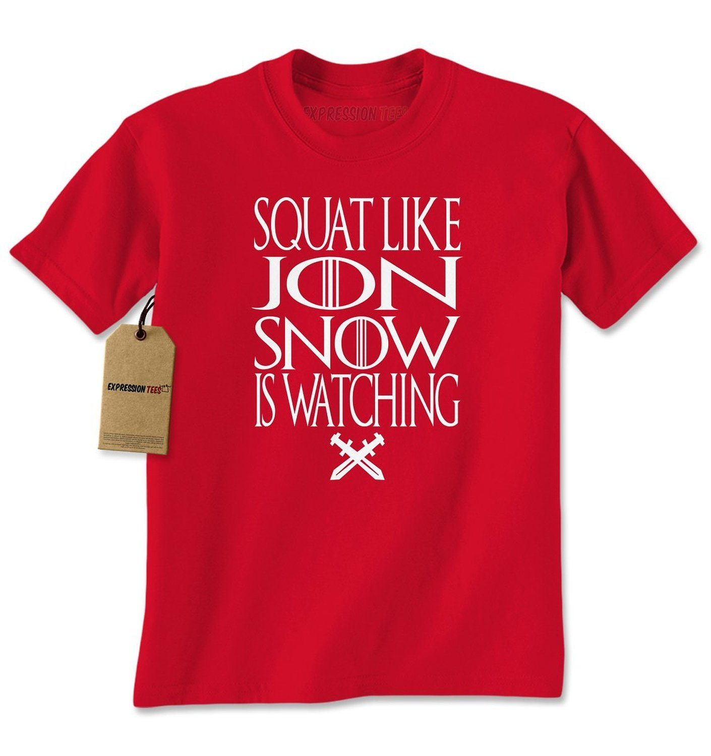 Expression Tees Squat Like Jon Snow Is Watching GoT Mens