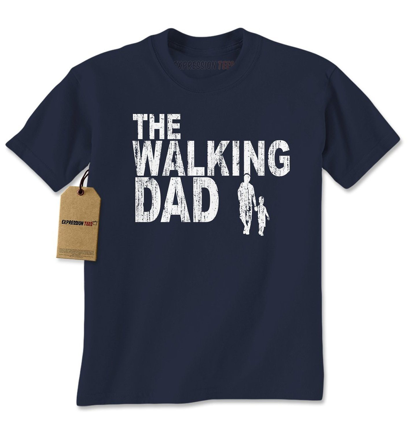 Expression Tees The Walking Dad Father's Day Mens