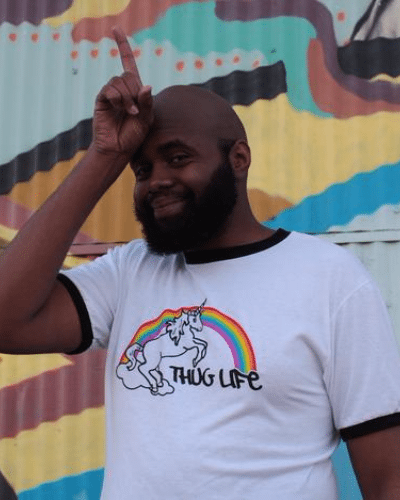 Rainbow Unicorn Thug Life T-Shirt (Men's)