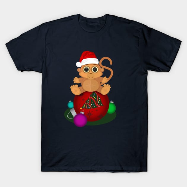 Christmas Monkey T-Shirt