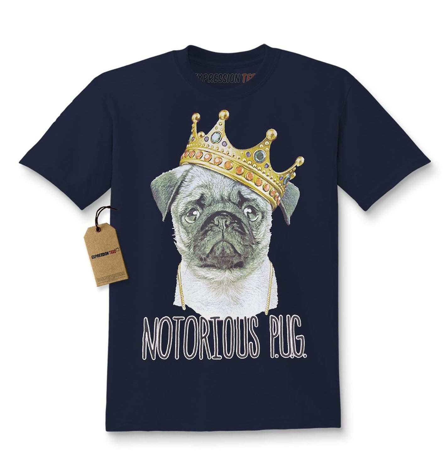 Expression Tees Notorious P.U.G. Biggie Pug Life Kids