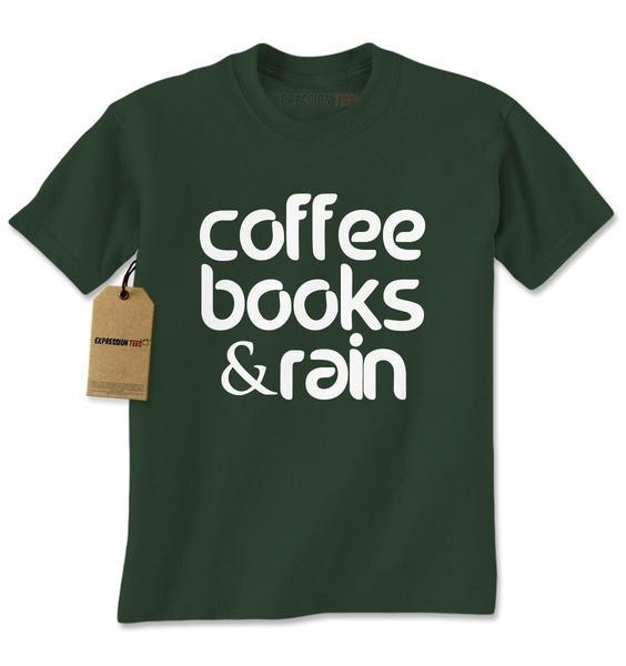 Coffee, Books And Rain Mens T-shirt