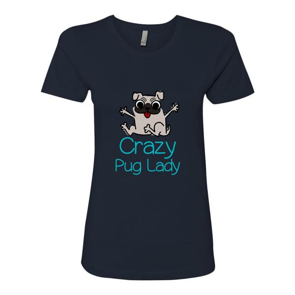 Crazy Pug Lady T Shirt