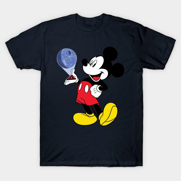 Mickey Mouse Death Star Plans T-Shirt