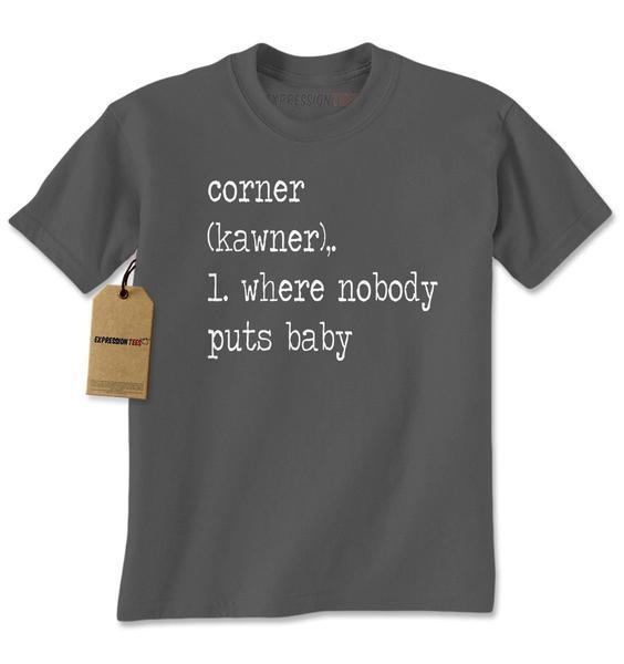 The Corner – Where Nobody Puts Baby Mens T-shirt