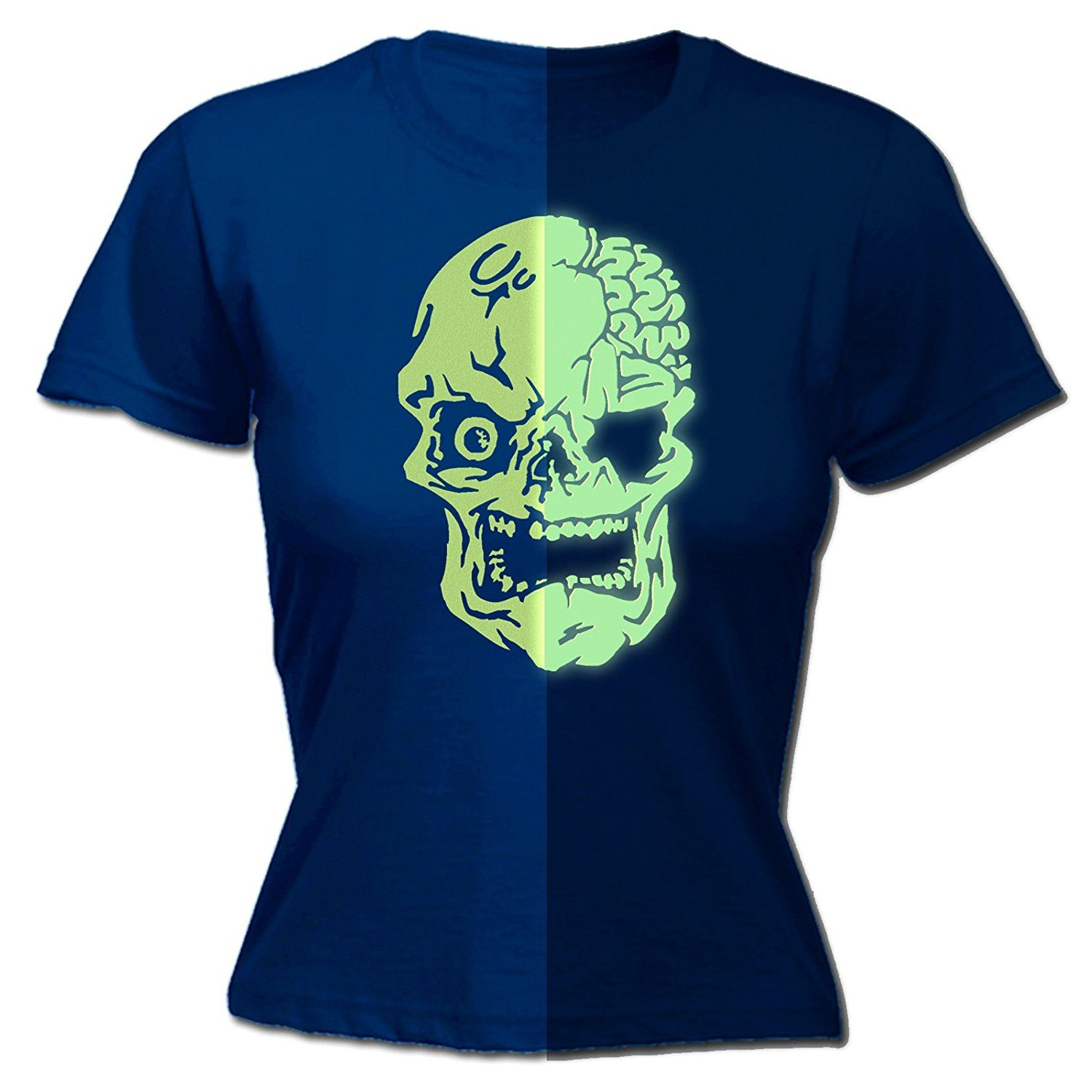 123t Women's Glow In The Dark … Skull Design – FITTED