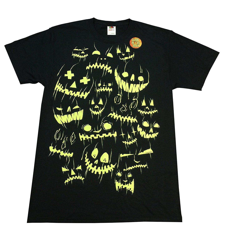 Halloween Jack O Lantern Faces Black Graphic