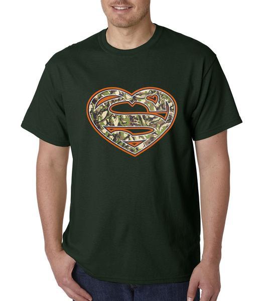 Hunting Super-Camo Heart Mens T-shirt