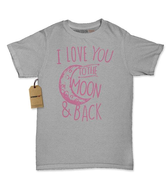 I Love You To The Moon and Back Womens T-shirt