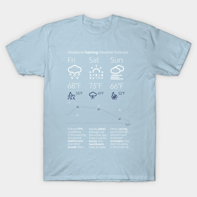 Weekend Gaming Weather Forecast T-Shirt
