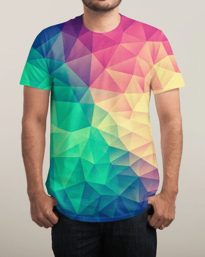 Color Bomb Low Poly Allover colorful Crystal Shirt