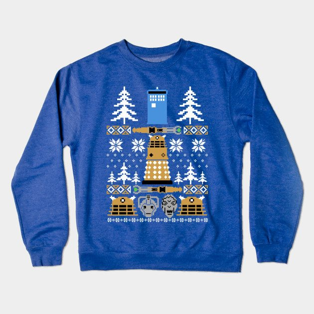 Doctor Who Ugly Sweater Crewneck Sweatshirt