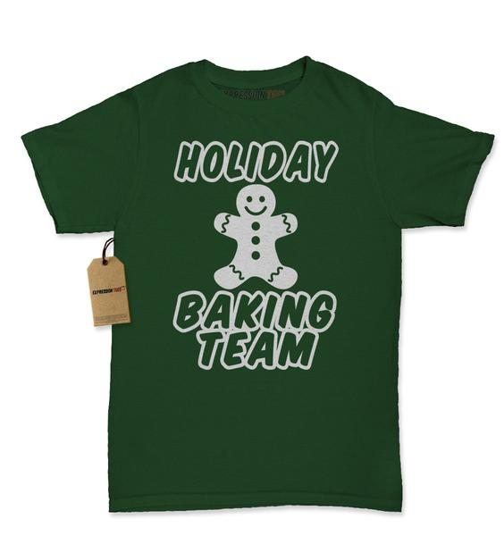 Holiday Baking Team Gingerbread Cookie Womens T-shirt