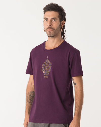 Peyote T-shirt ➟ Purple / Brown / Olive