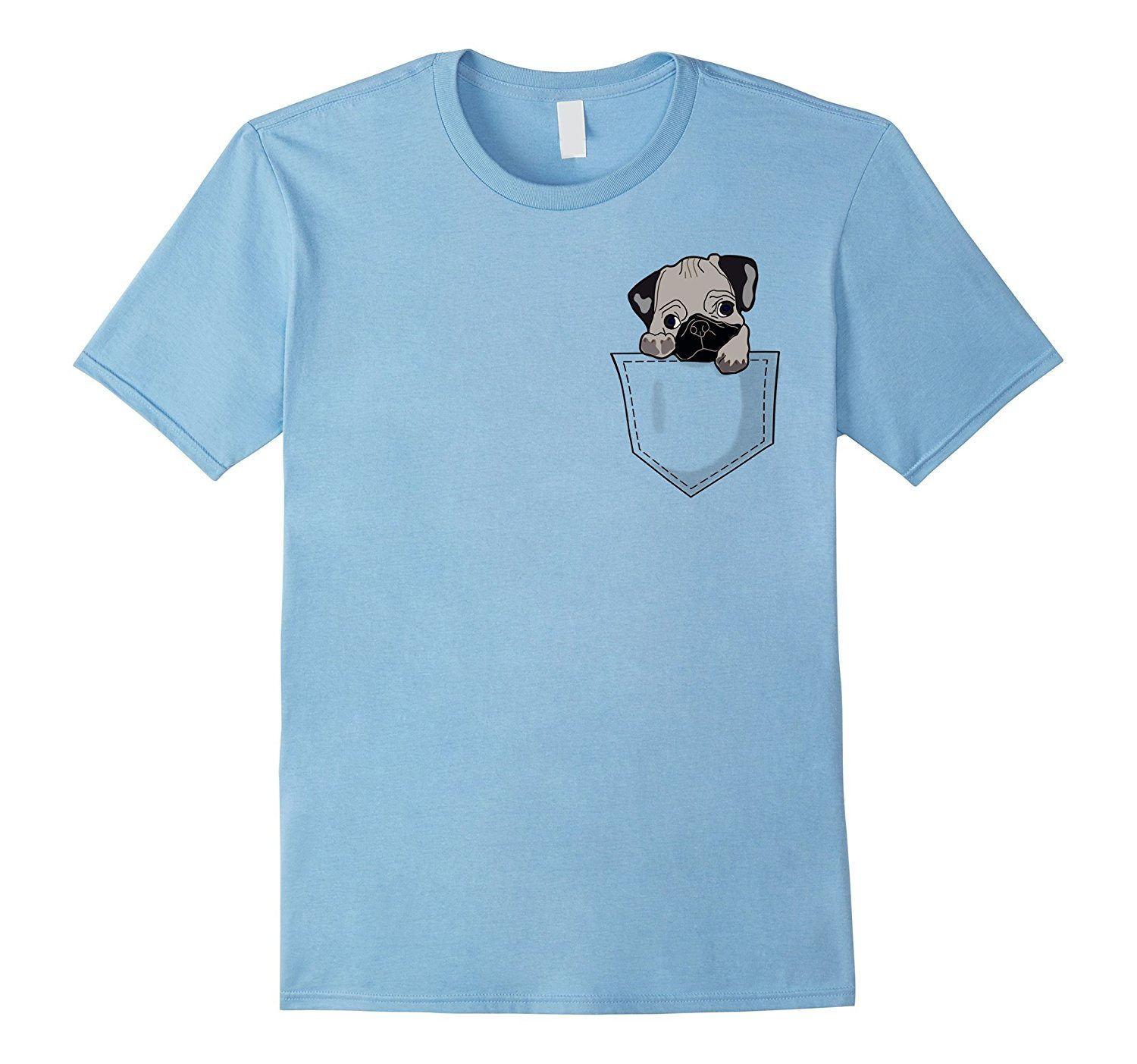 Pug in my Pocket, pet dog graphic