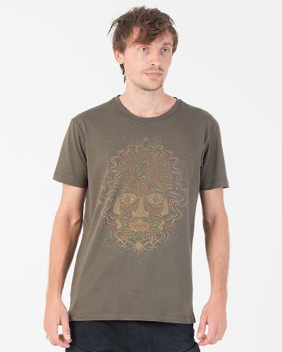 TriMurti T-shirt ➟ Purple / Brown / Olive