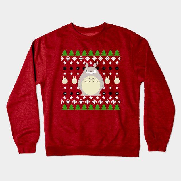 Ugly anime christmas shirt Crewneck Sweatshirt