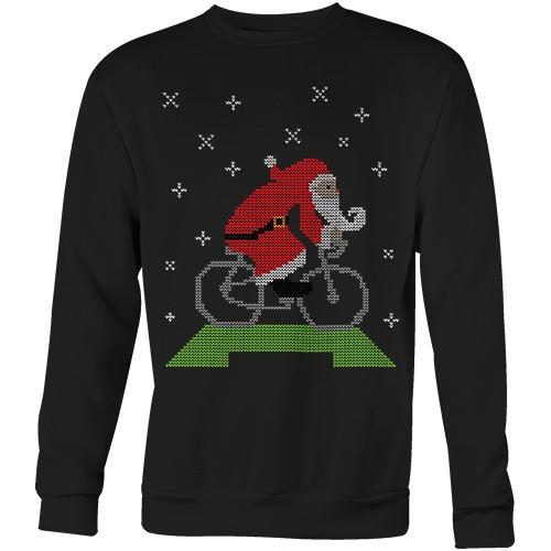 Cycling Santa Sweater