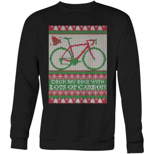 Deck My Bike Sweater -- Biking Shirt