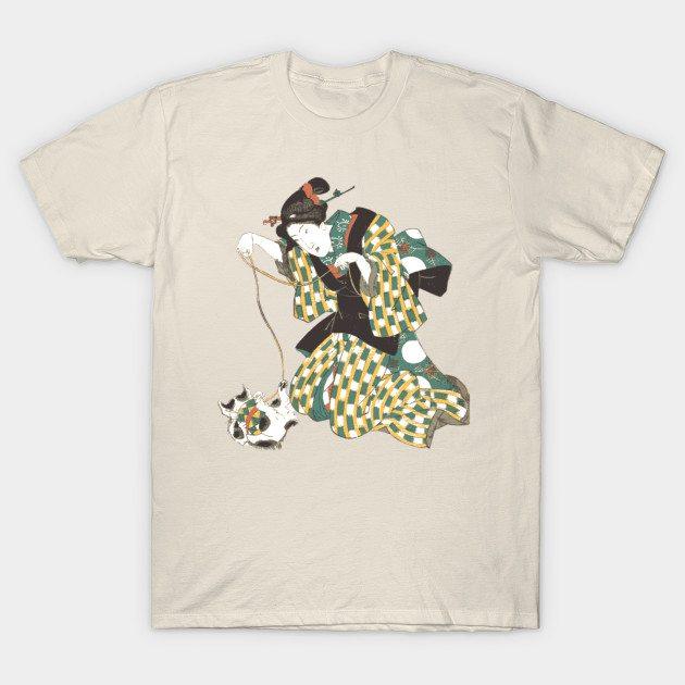 Japanese cat print T-Shirt