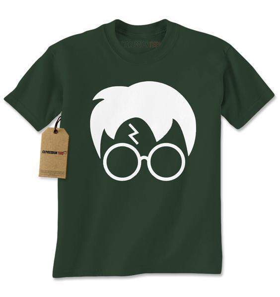 Harry Glasses Lightning Bolt Hair Mens T-shirt