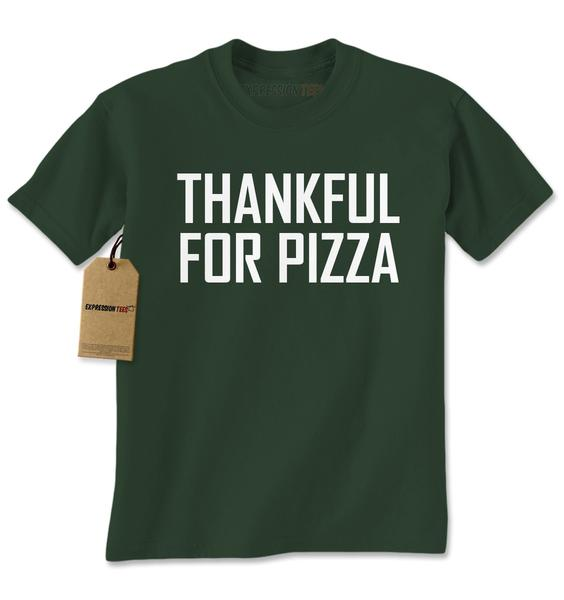 Thankful For Pizza Mens T-shirt
